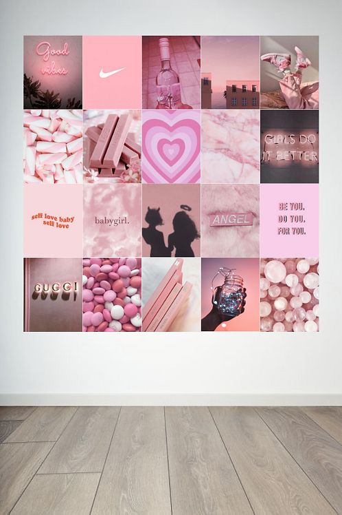 Candy Floss Wall Collage