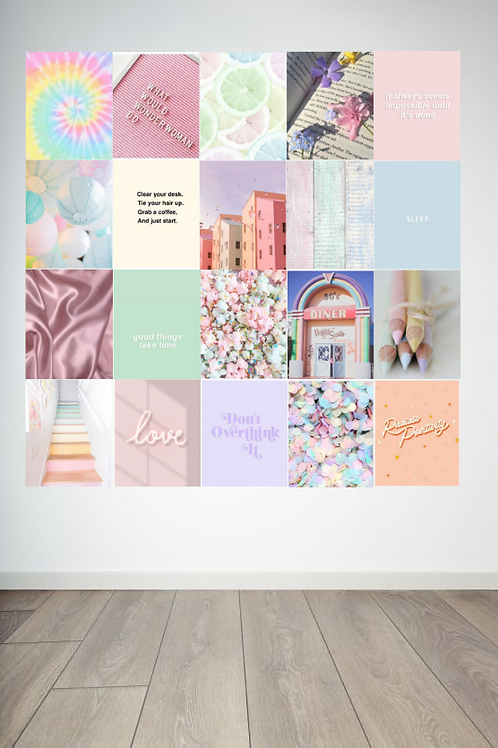 Pastel Wall Collage