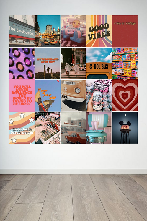 Retro Wall Collage
