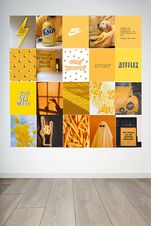 Yellow Wall Collage