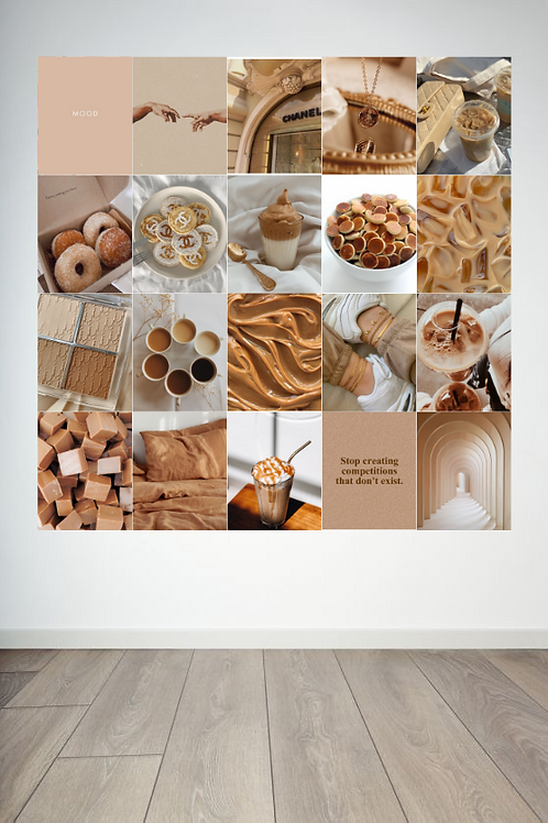 Caramel and Coffee Wall Collage