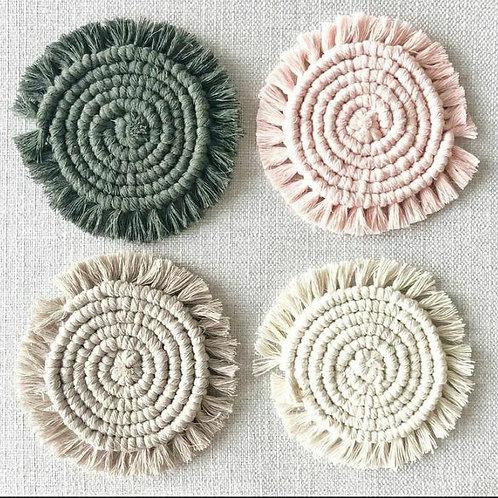 Macrame Coasters (set of 4)