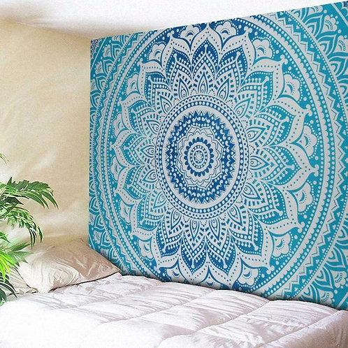 Blue Ombré Mandala Tapestry