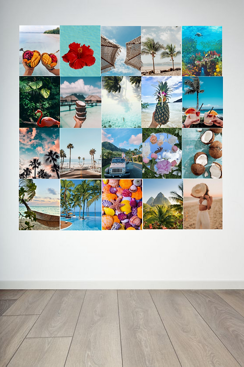 Tropical Wall Collage