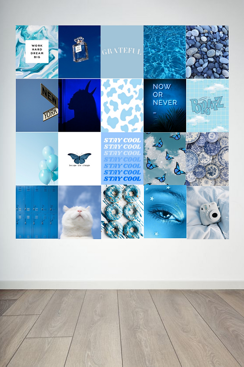 Blue Wall Collage