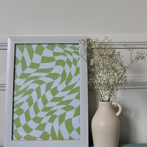 Green Checkered Frame