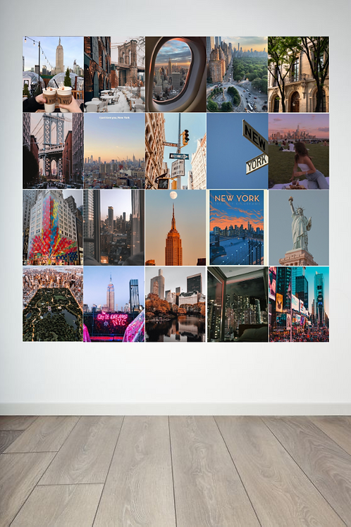 New York Wall Collage