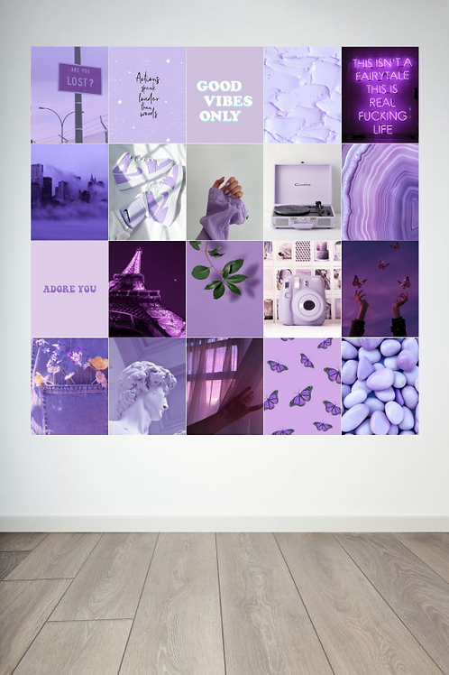 Purple Wall Collage