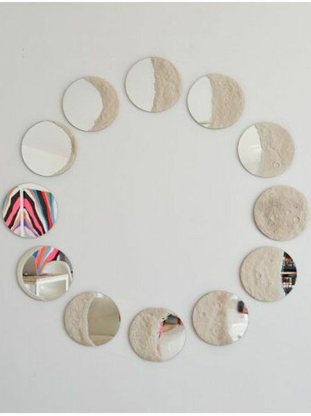 Moon Phases Mirror (set of 12)