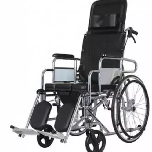 Backrest with Commode Wheelchair
