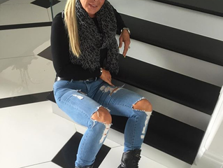 Theresa Roemer Rocking RonaldRoy Kaiden Boots