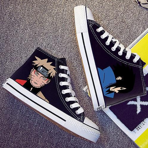 Men Women Anime Print Canvas Shoes Naruto