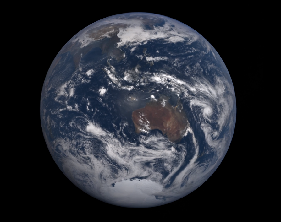 EARTH W:AUSTRALIA AND PACIFIC NICE BLUES