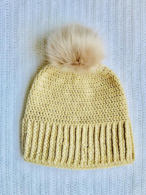 Kids - Slouchy Faux Fur Pom-Pom Hat
