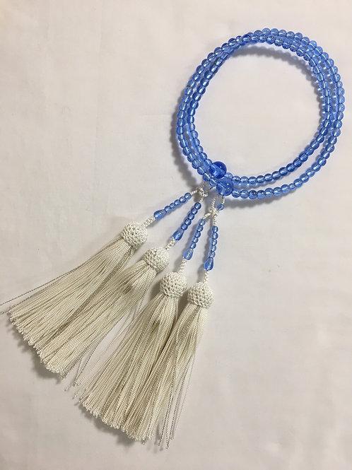加賀創作念珠 ブルー水晶