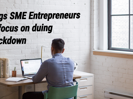 5 things SME Entrepreneurs or Young Startups could focus on during COVID-19 Lockdown - Vendo Blog