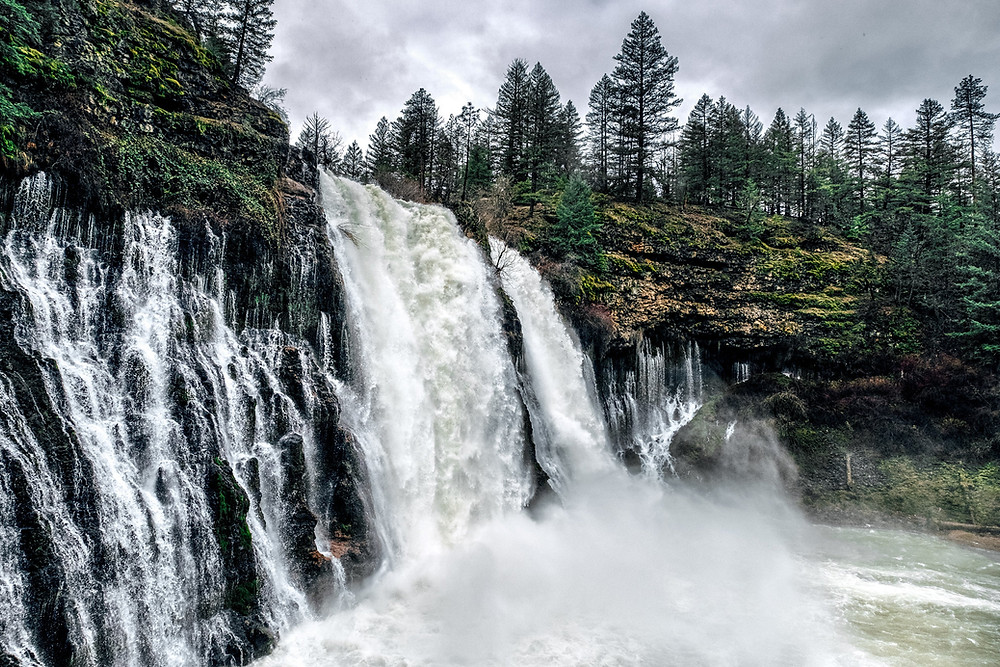 Burney Falls in Lassen National Forest.