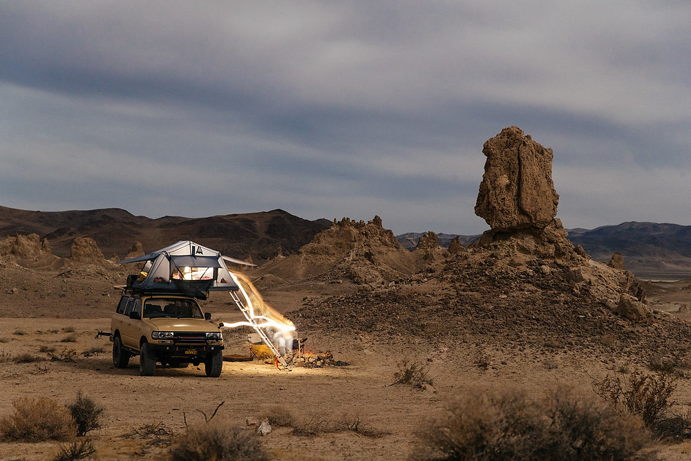 Land Cruiser in the Mojave