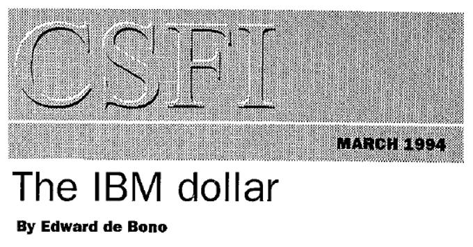 The IBM Dollar