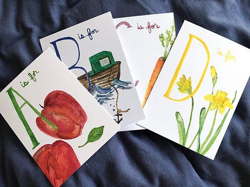 Alphabet Flash Cards by Hannah Corkery