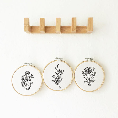 Wildflower Embroidered Hoops by Sew Bath