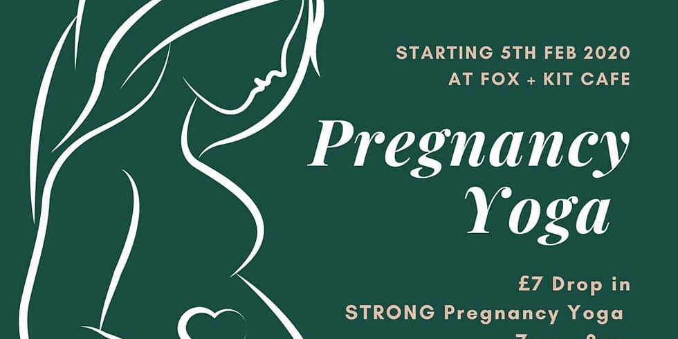 Strong Pregnancy Yoga Class with WildFlower Yoga