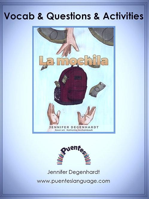 Vocabulary & Questions & Activities: La mochila