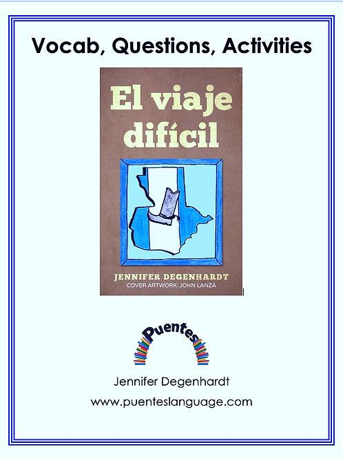 Vocabulary, Questions & Practice: El viaje difícil