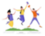 happy-students-jumping-with-flat-design_