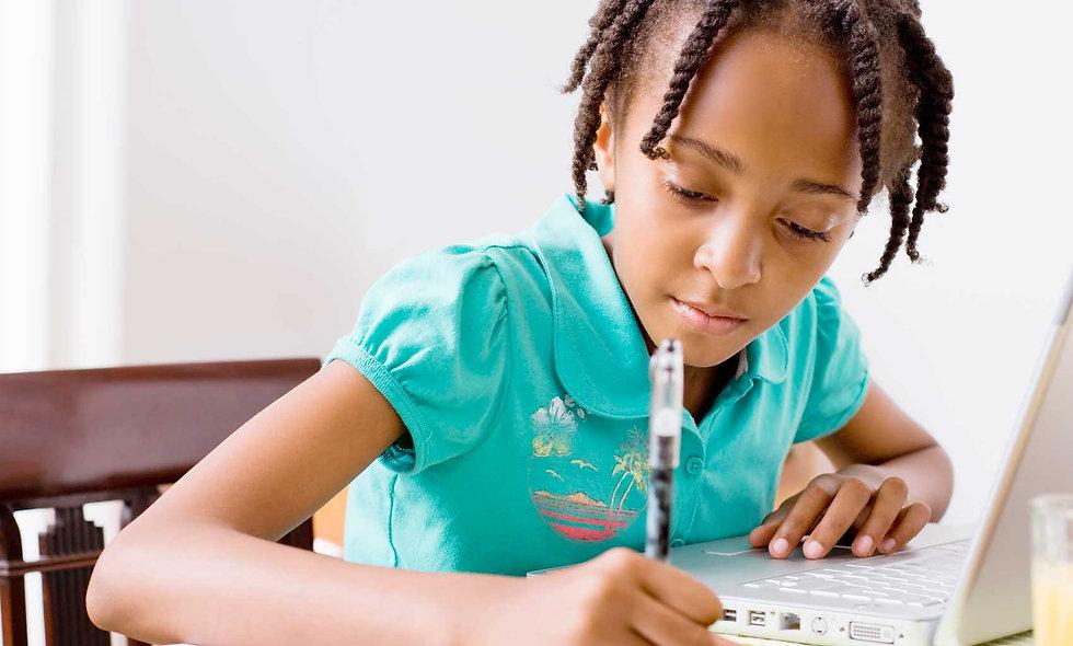 african american girl writing language arts class online language arts homeschool curriculum online classes homeschool cheap