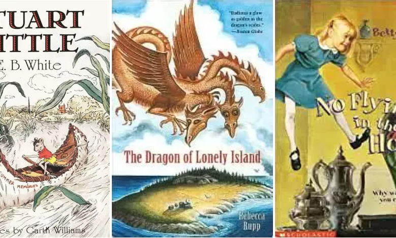 dragon of lonely island stuart little no flying in the house book covers literature homeschool curriculum online class