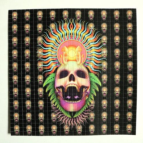 Blotter art - Mushroom Death Mask