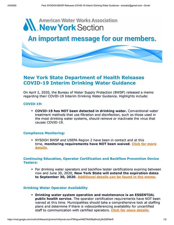 Press Release Covid 19 Drinking Water.jp