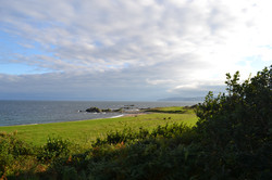 Sea view from cottages