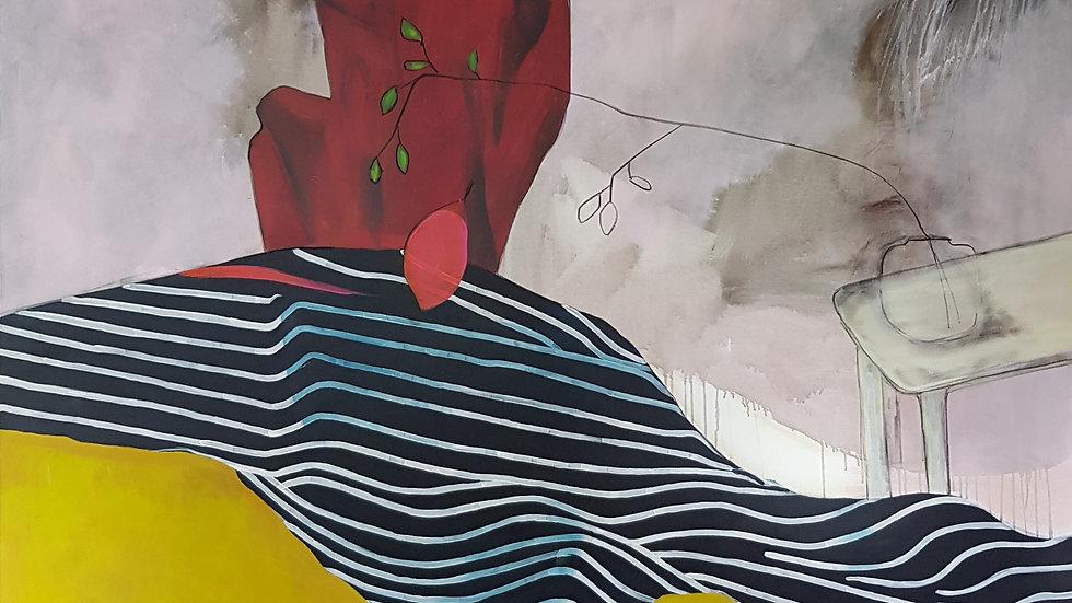 o.T. 2019 / Acryl auf Leinwand / 200 x 200