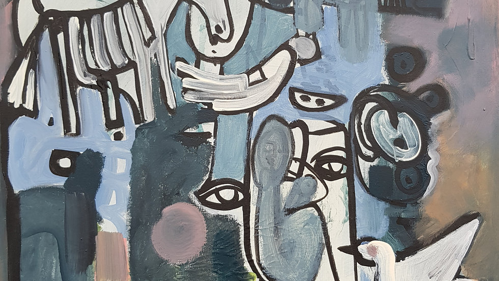 o. T. 2019 / Acryl auf Leinwand / 60 x 80