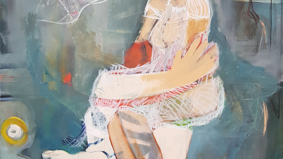 """A. MONDA"" New Series 2017/ Acryl auf Leinwand/ 160 x 120"