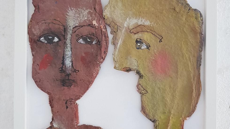 o. T. 2019 Papier / Leim / Acryl / Tusche auf Papier / mit Rahmen 37 x 47 cm