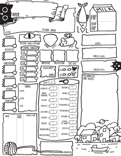 Character Sheet design