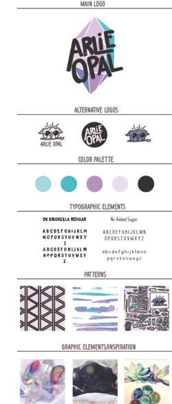 Arlie Opal Branding Board