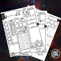 Dungeons and Dragons Cat Themed Character Sheets