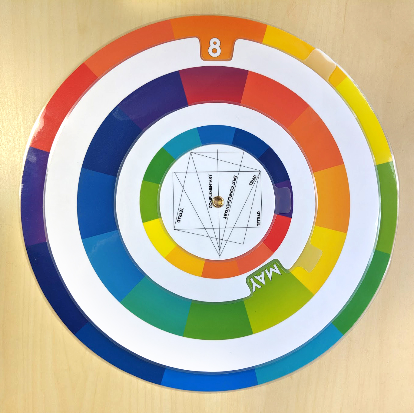 Perpetual Color Wheel Mockup