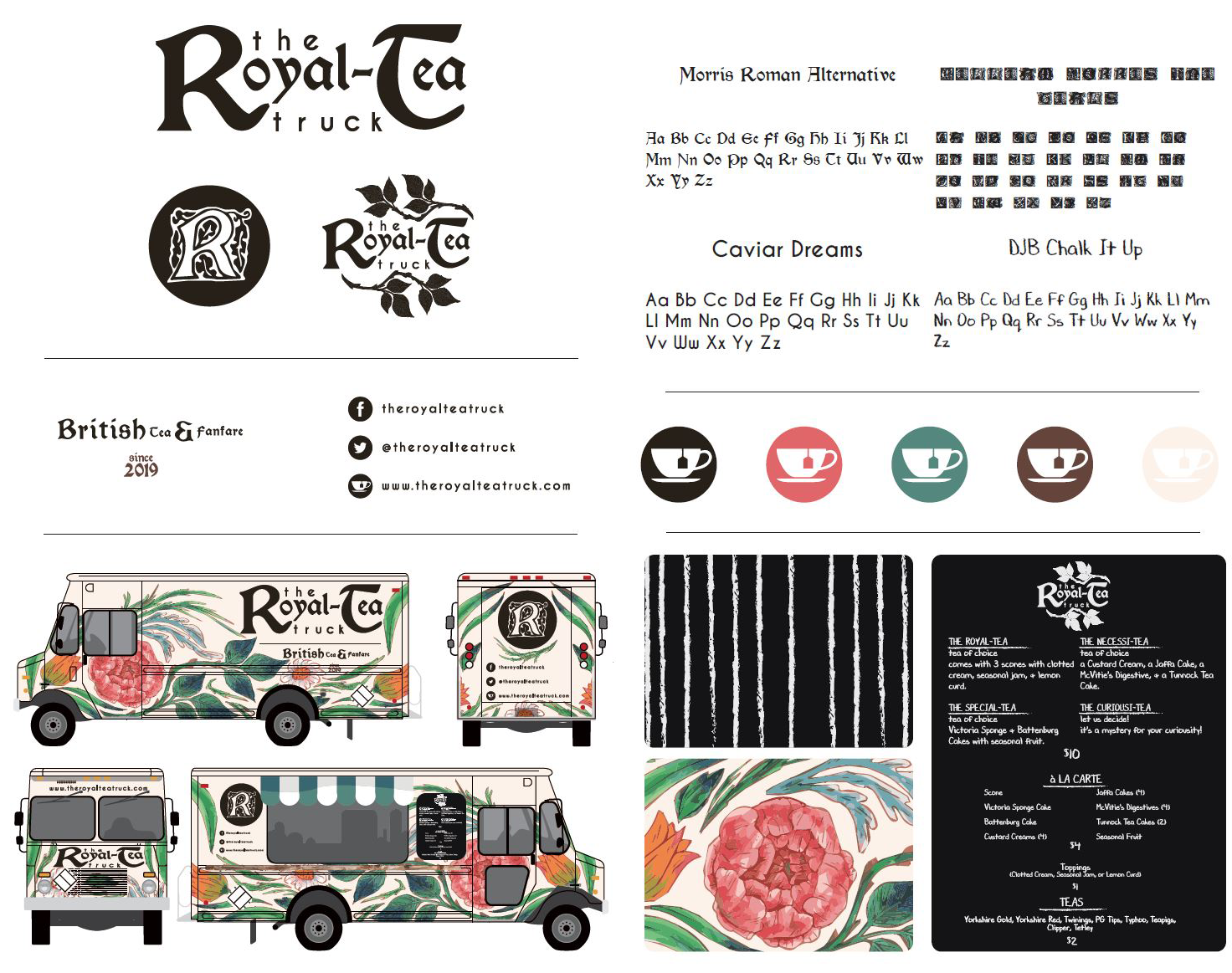Royal Tea Truck Branding Board