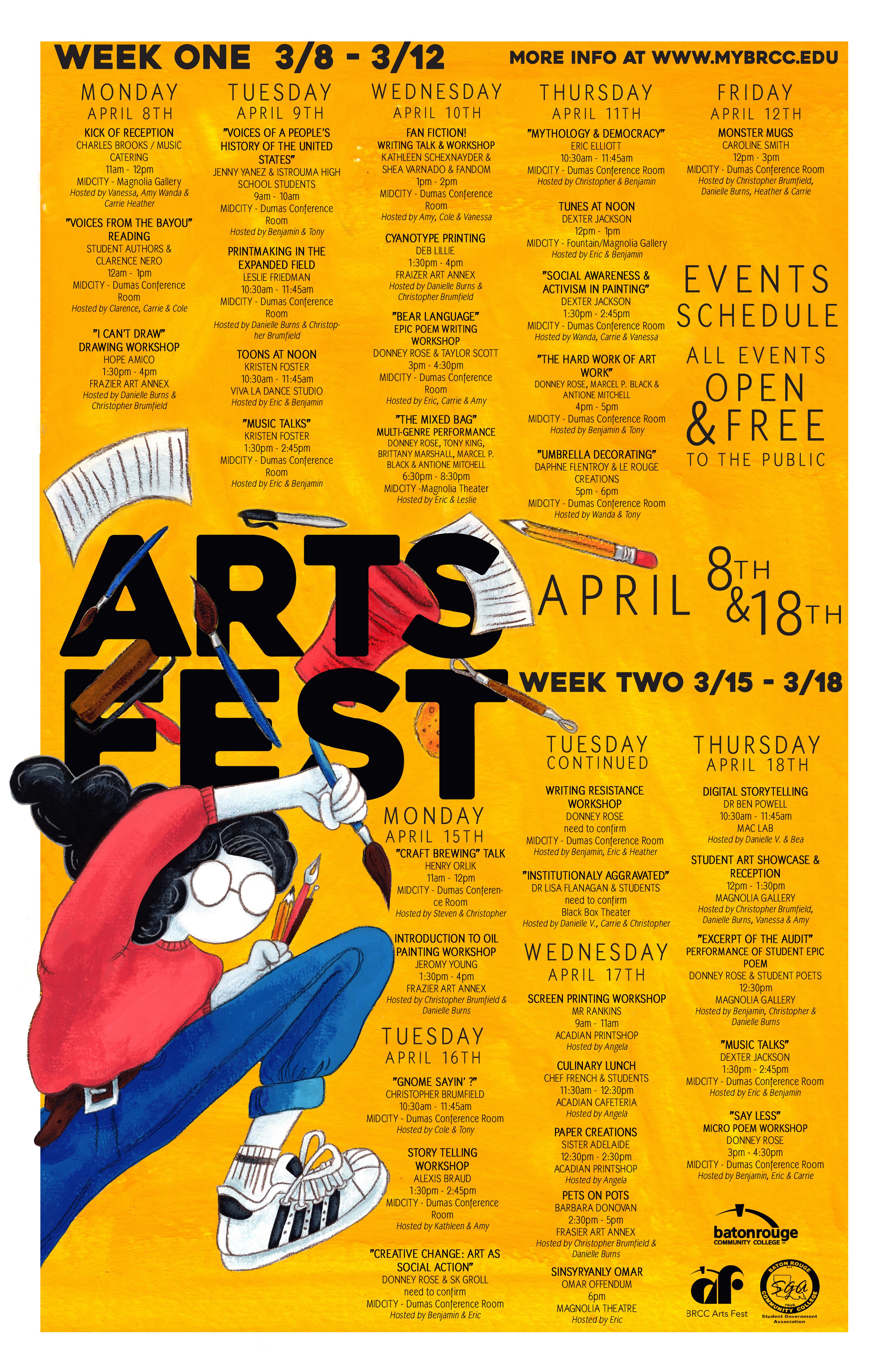 Arts Fest Calendar