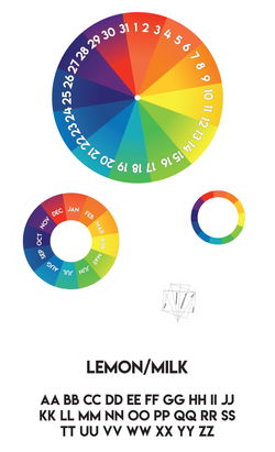Perpetual Color Wheel Calendar Branding Board