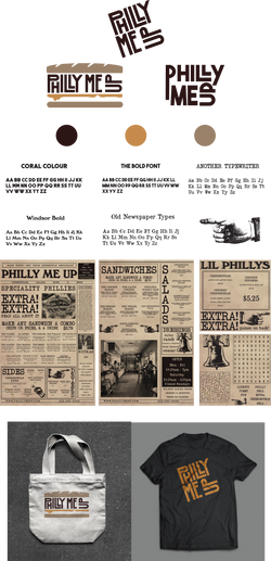 Philly Me Up Branding Board
