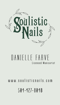 Soulisitic Nails Business Card Front