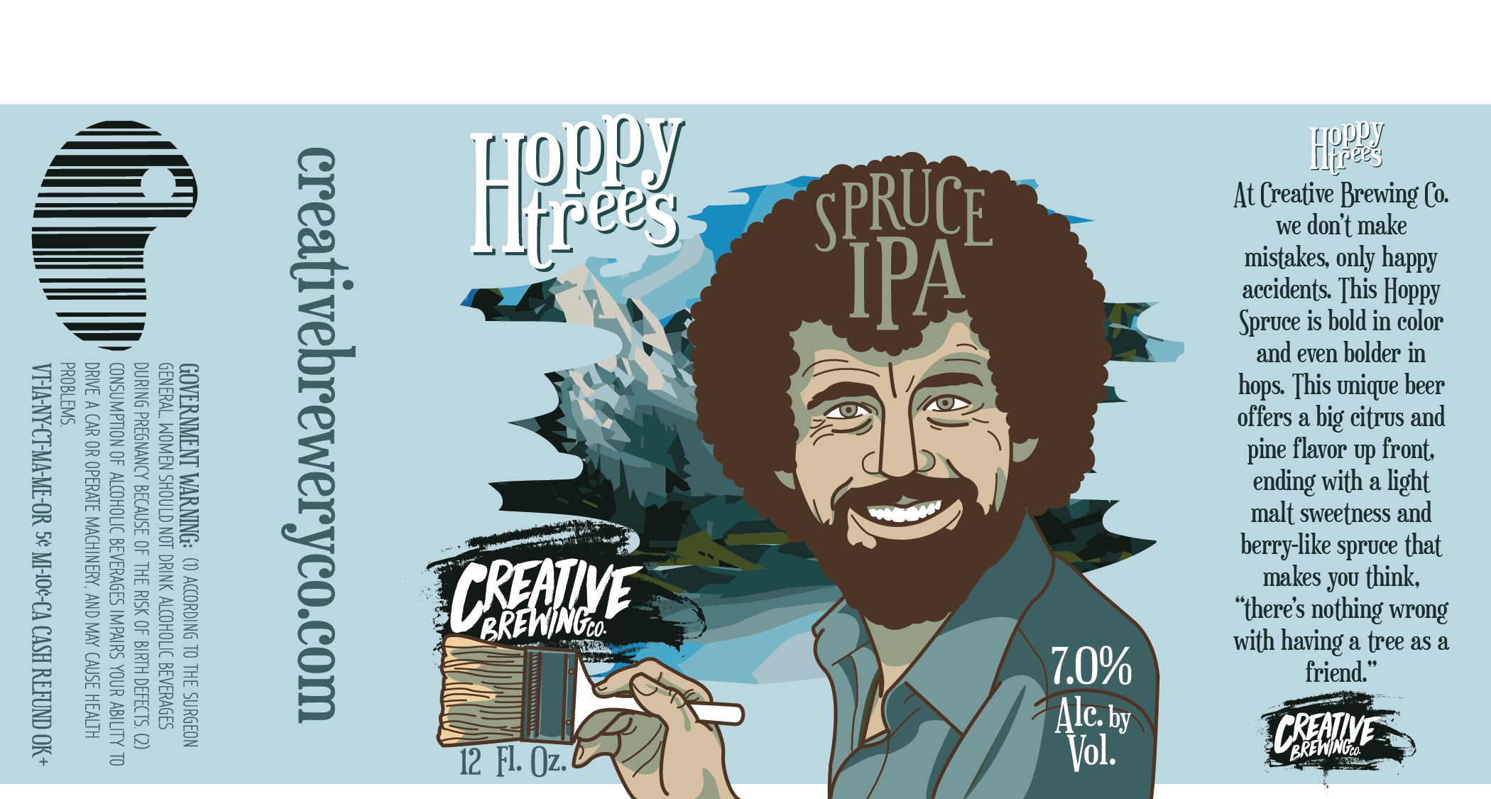 Hoppy Trees Ale Label