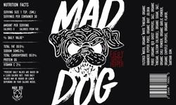 Mad Dog Hot Sauce Label