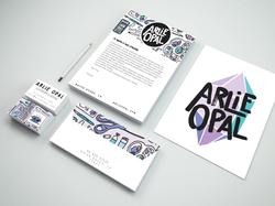 Arlie Opal Branding Stationary